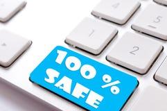 Safe buy. 100% safa sign on the keyboard Stock Photography
