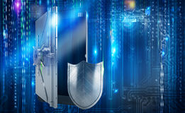 Safe cellphone from hacker attack like a strongbox. 3D Rendering Royalty Free Stock Photo