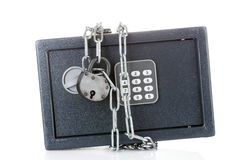 Safe with chain and lock Royalty Free Stock Photography