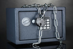 Safe with chain and lock Stock Photography