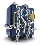 Safe and chain Stock Photography