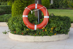 Safe circle with rope. Stock Photo