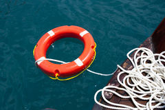Safe Circle With Rope. Royalty Free Stock Photo