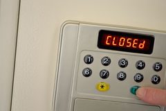 Safe is closed with code Royalty Free Stock Photos