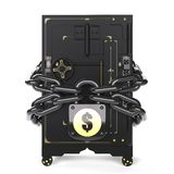 Safe closed on the lock and chain Royalty Free Stock Image