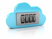 Safe in cloud Royalty Free Stock Image