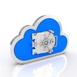 Safe cloud computing Royalty Free Stock Photography