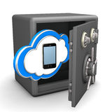 Safe Cloud Smartphone Stock Images