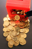 Safe with Coins Stock Image