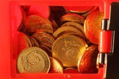 Safe with Coins Stock Photos