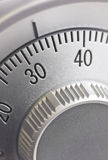 Safe combination dial. Close-up of a combination dial on a safe Stock Photos