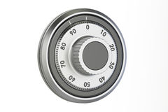 Safe combination dial, 3D rendering Stock Image