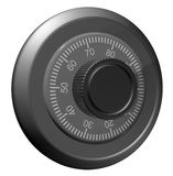 Safe combination lock. Knob with figures Royalty Free Stock Photo