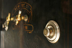 Safe cracker. Combination dials on a safe from 1850's Stock Photos