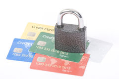 Safe credit cards Royalty Free Stock Images