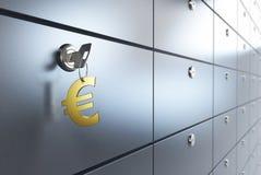 Safe Deposit. Box and key safe Stock Images