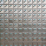 Safe deposit box. The Convenient service industries of Safe deposit box Royalty Free Stock Photos