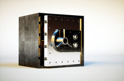 Safe deposit box. 3d photo realistic image of safe deposit box Stock Image