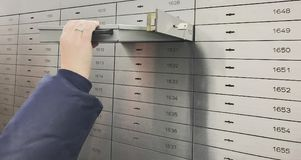 Safe deposit box open in a sure safe deposit cell. In Germany royalty free stock photo