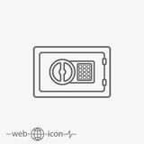 Safe deposit box vector icon. On white background Stock Images
