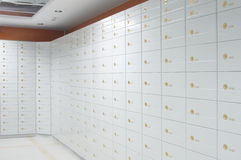 Safe deposit boxes Stock Photos