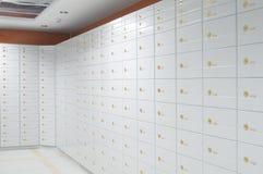 Safe deposit boxes. Vault of safe deposit boxes stock photos