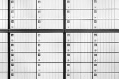 Safe deposit boxes. In the bank. Black and white Stock Photos