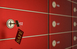 Safe deposit boxes Stock Images
