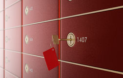 Safe deposit boxes Royalty Free Stock Photography
