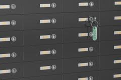 Safe deposit boxes Royalty Free Stock Image