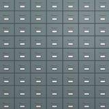 Safe-Deposit Boxes. Rack of  Metallic Safe-Deposit Boxes 3D Illustration Royalty Free Stock Photos