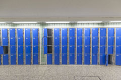 Safe-deposit boxes at the station Stock Image