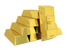 Safe deposit in golden bars Royalty Free Stock Photography