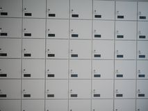 Safe deposit lockboxes Royalty Free Stock Image