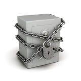 Safe in der Kette mit einem Verschluss Lizenzfreies Stockfoto
