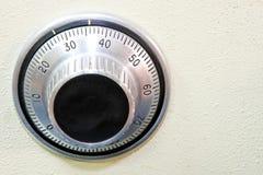 Safe dial 2. Close up shot classic combination lock dial Stock Photos