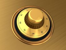 Safe dial Stock Image