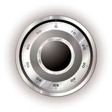 Safe dial white Stock Images