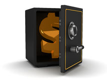 Safe with dollar symbol Royalty Free Stock Photo