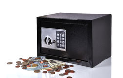 Safe with dollars Royalty Free Stock Image