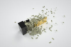 Safe and 1000 dollars Stock Images