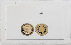 Safe door with locks closeup Stock Photography