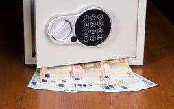 Safe with euro Stock Photo
