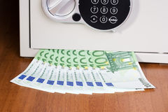 Safe with euro Stock Photography