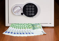 Safe with euro Royalty Free Stock Images