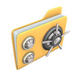 Safe File. Safety yellow file on the white background Royalty Free Stock Photography