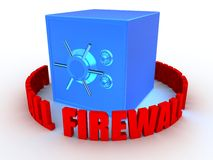 Safe and firewall Stock Image
