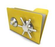 Safe folder Royalty Free Stock Photography