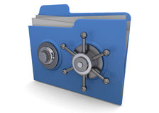 Safe Folder - 3D Royalty Free Stock Photos