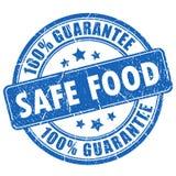 Safe food guarantee stamp Royalty Free Stock Photography